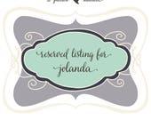Reserved Listing for Jolanda