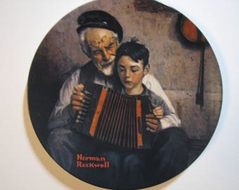The Music Maker Collectors Plate by Norman Rockwell