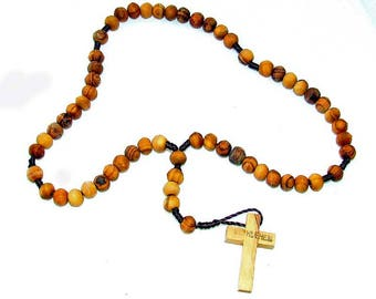 Rosary Free shipping - 100% natural olive wood beads from Bethlehem Olive wood Rosary
