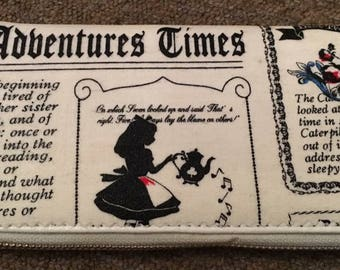 Custom made alice in wonderland inspired womens/teens purse