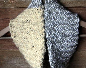 Herringbone Colorblock Cowl