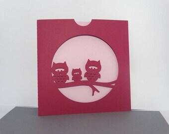make three OWL birth announcement