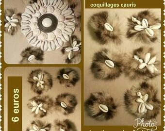 Set of 6 pads custom fur & shells