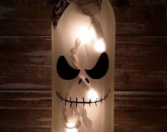 Jack Nightmare Before Christmas/Halloween/Wine Bottle/ Skellington decor decorations