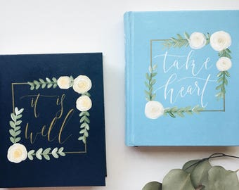 Hand Painted Bible // Bohemian Blossom Theme