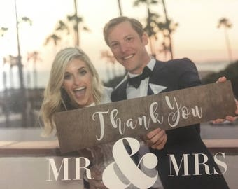 THANK YOU Card Wood Sign