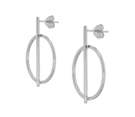 Earrings Hoop and Silver N2