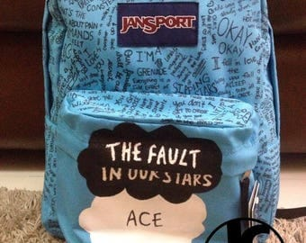 The Fault in our stars Hand Painted Jansport Backpack