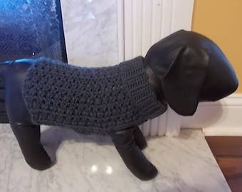 New Dark Charcoal Grey Turtleneck Sweater Dog Clothing Yorkie Chihuahua Terrier Small S