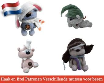140NLY Brei en Haak Patroon - Mutsenvoor beer Cookie - Amigurumi soft toy PDF file by Pertseva Etsy