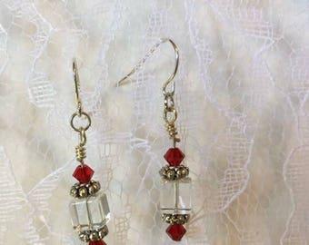 Fire & ice earrings