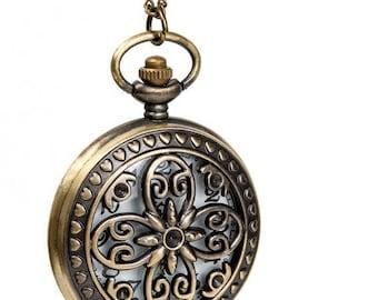 1 Pocket Watch Necklace Watch Wedding Gift Watch Clock Watch Owl Watch Flower Watch-C123