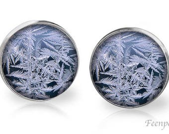 Stud Earrings Frosted 13