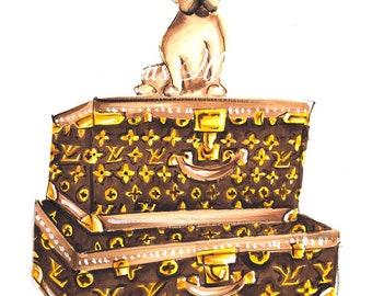 French Bulldog art, Frenchie art, French bulldog, Dog portrait, Frenchie print, Frenchie wall art, Dog wall art, Dog art, Custom dog art