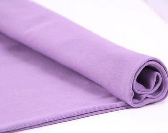 Ribbing Organic Dusty Lavender - CPauli  Organic Cotton ribbing Cuffing GOTS UK Seller