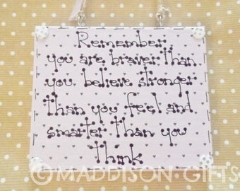 Remember You Are Positive Wall Hanging Ornament Motivational Inspirational Gift Idea