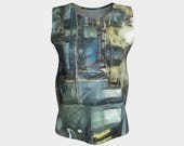 Steampunk, Tank Top, Loose Tank, Women, Teen, Jersey top, women's clothing, Yoga, Dance, Workout, Train, Casual tops, Claire Bull Art, girls