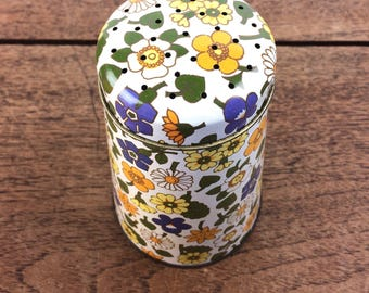 1970's retro floral patterned tin flour sifter/shaker
