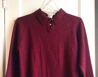 Collared sweater merino wool