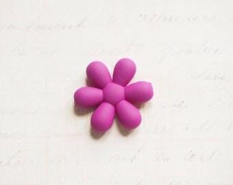 Large purple 25x6mm sweet gum flower bead
