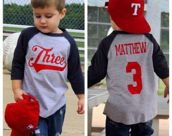3rd birthday shirt, Baseball birthday shirt, boys birthday shirt,  baseball t-shirt, baseball birthday party, baseball jersey, baseball