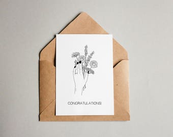 Wedding / Engagement Botanical Greetings Card