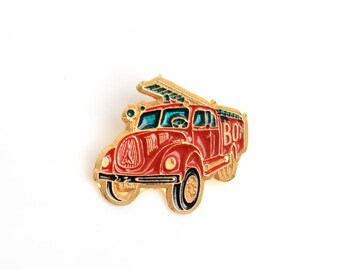 Enamel pin,firetruck,lapel pin, backpack pin, pin collector, fire enamel pin,golden enamel badge, soft enamel pin,emergencies,enamel badge