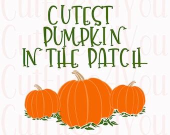 Pumpkin SVG, Cutest Pumpkin svg, Pumpkin Patch svg, 1st Halloween svg, Toddler halloween svg, HTV Ready design, commercial use svg