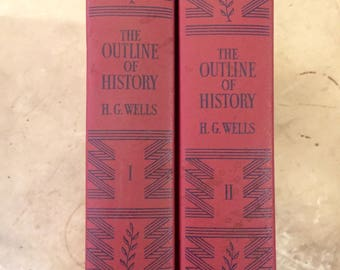 Vintage The Outline of History Volumes 1 and 2 H. G. Wells