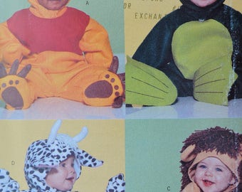 Bear Frog Cow Lion Infant's Costume Halloween Butterick 5657 Sewing Pattern