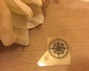 stamp clear transparent holiday direction point Cardinals compass