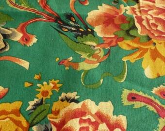 Green Chinese traditional fabrics matte 3 m