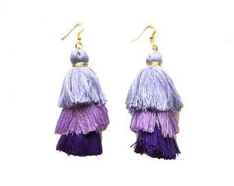 Cha Cha Purple Earrings