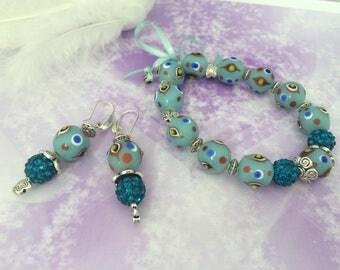 romantic set summer in blue aqua shamballa
