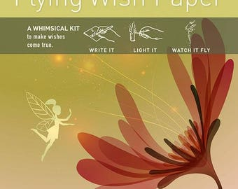Flying Wish Paper - fairy garden design - package of 15 wishes, make a wish
