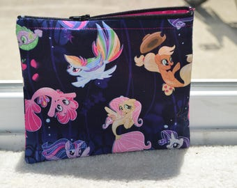 My Little Pony Make Up Bag/ My Little Pony Cosmetic Bag/ My Little Pony Purse/ zipper pouch