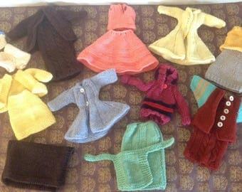 Vintage Hand Knit Barbie Clothes, Vintage Barbie Clothes, Barbie Clothing, Barbie Wardrobe, Vintage Barbie