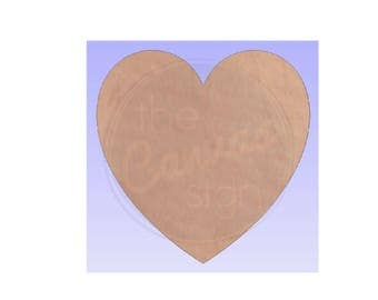 HEART - DIY - Blank - Unfinished Wood Cutout - Wreath Accent, Door Hanger, Ready to Paint & Personalize