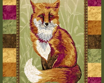 """Pretty Foxy 24"""" x 45"""" Panel from Paintbrush Studio by the panel"""