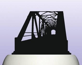 Acrylic Iron Bridge Architecture Cake Topper Decoration