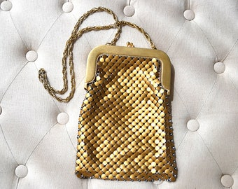 1950s Whiting and Davis 2816 Gold Mesh Purse
