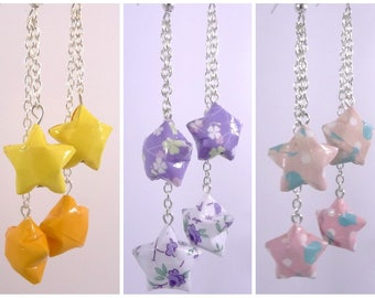 Stars Origami Duo Celeste yellow - purple - pink