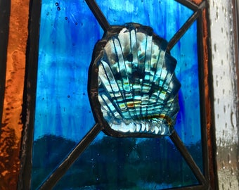 Shell Stained Glass Panel