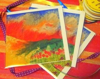 Bali Red Dawn 3 card pack