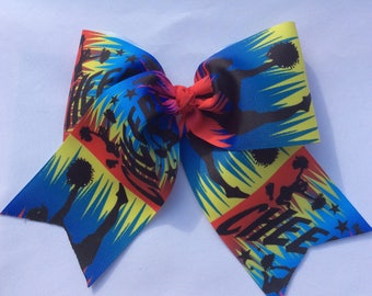 Cheer Bow, Cheerleader Bow, Cheer Hair Bow, BIG Bow, 6 inch Bow, Grosgrain Bow, Stocking Stuffer