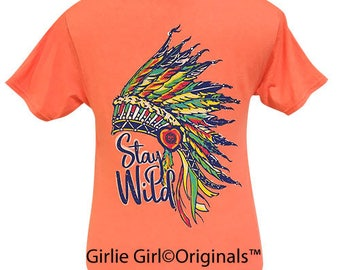 Girlie Girl Originals Stay Wild Retro Heather Coral Short Sleeve T-Shirt