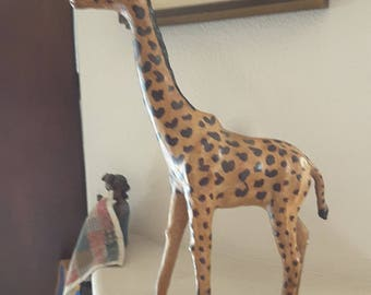 "Paper Mache Giraffe Approximately 19"" Tall"