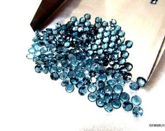 10 piece 4mm London Blue Topaz Faceted Round Gemstone, 4mm London Blue Topaz Round Faceted, 100% Natural London Topaz Faceted Round Gemstone