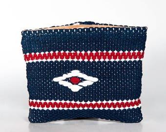 """Unique handmade handwoven Loom """"Wallet rag"""" purse"""