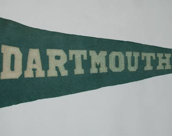 1920s-'30s era Ivy League Dartmouth College Sewn Letters Felt Pennant — Free Shipping!